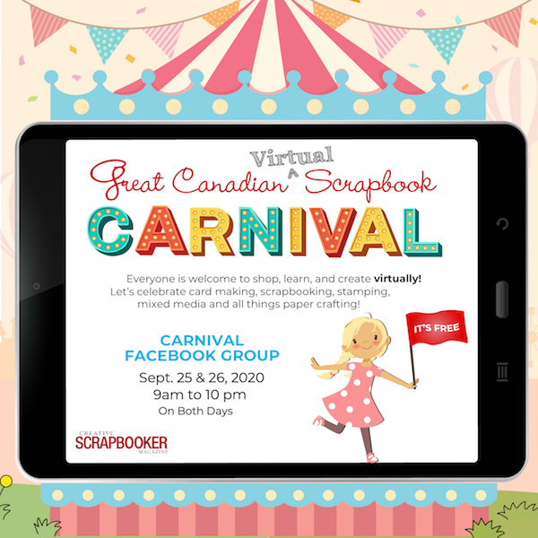 Great Canadian Virtual Scrapbook Carnival 2020
